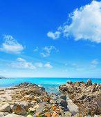 image of shoreline  - Santa Reparata shoreline under a cloudy sky - JPG