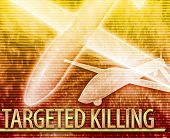 picture of killing  - Abstract background digital collage concept illustration targeted killing drone - JPG