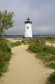 stock photo of martha  - Edgartown Harbor Light on Martha - JPG