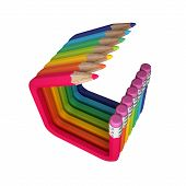 stock photo of thinking outside box  - The image shows different colored - JPG