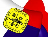 image of memphis tennessee  - 3D Flag of Memphis USA - JPG