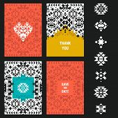 foto of illuminati  - Vector abstract card templates for design wedding cards - JPG