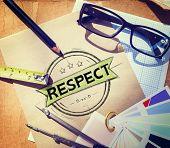 stock photo of integrity  - Respect Honesty Honorable Regard Integrity Concept - JPG