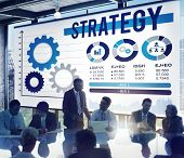 stock photo of solution  - Strategy Process Solution Strategic Vision Concept - JPG