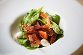 foto of vinegar  - Salad with strawberry - JPG