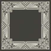 picture of initials  - Vector floral and geometric monogram logo on dark gray background - JPG