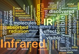 image of irs  - Background concept wordcloud illustration of infrared IR glowing light - JPG