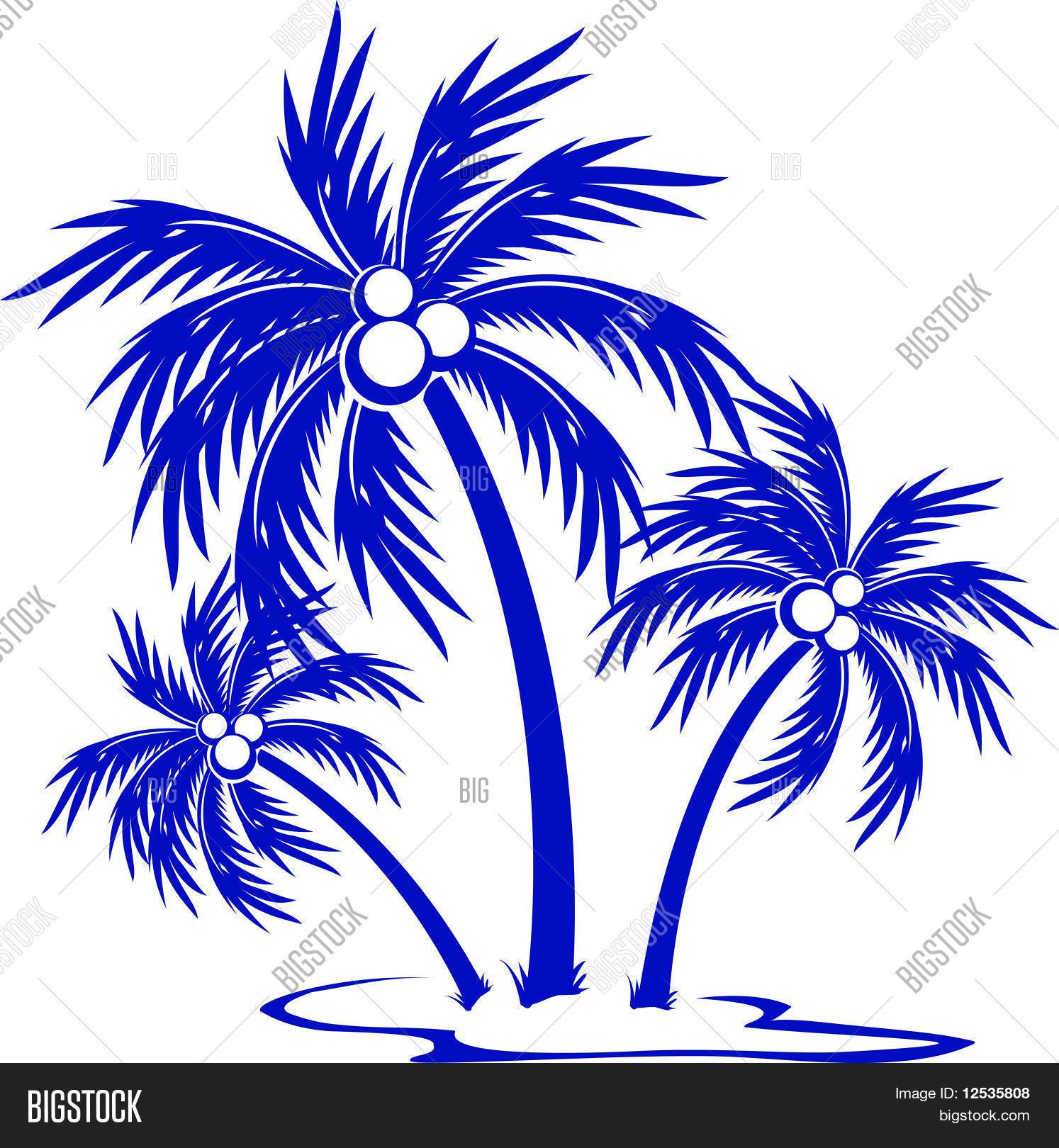 Пальмы и узоры на окошке