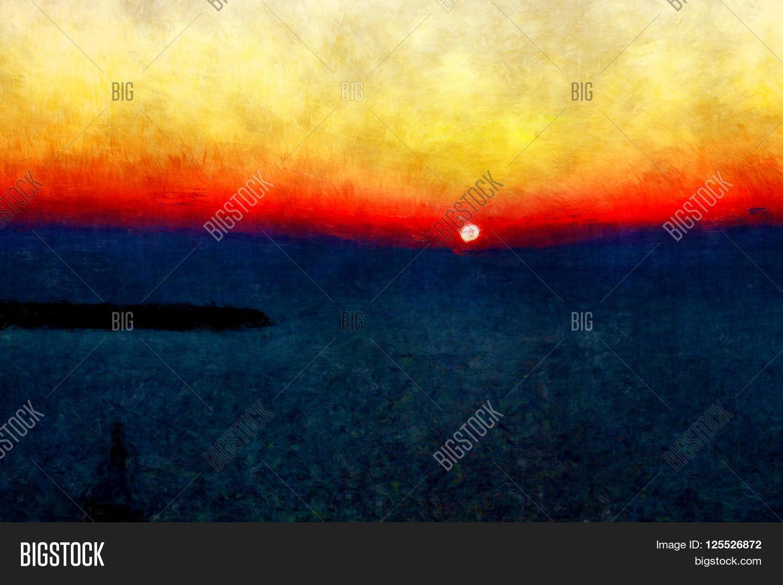 Horizon Sunset Drawing on 1500 Ocean Dr