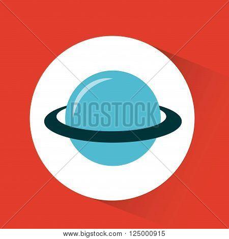 planet saturn design, vector illustration eps10 graphic