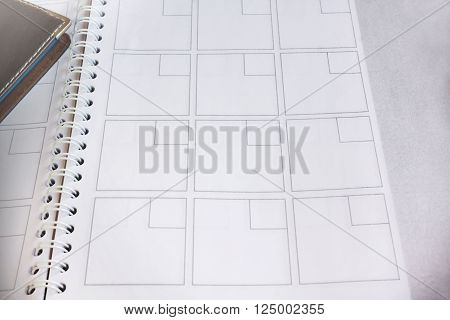 Blank organiser note book for abstract background
