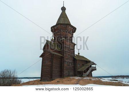 Russian orthodox wooden Dormition Church in Kondopoga, Karelia, Russia. Was built in 1774.