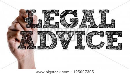 Hand writing the text: Legal Advice