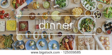 Dinner Food Cuisine Party Restaurant Eating Concept