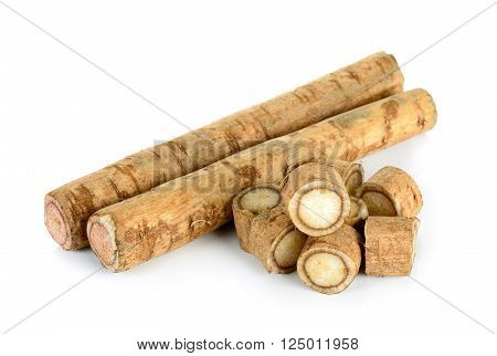 Burdock Roots Isolated On The White Background