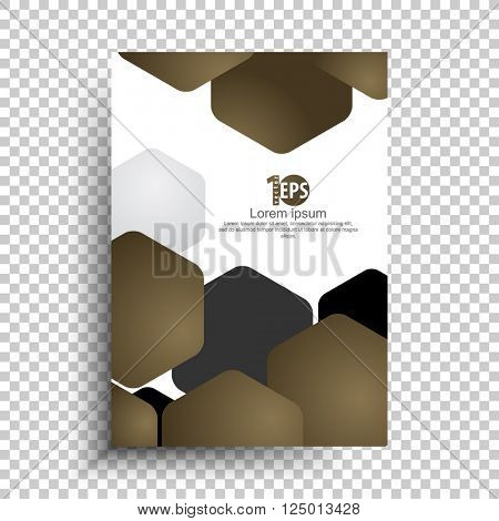abstract overlapping geometric hexagon material business background design. eps10 vector