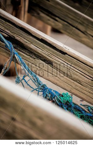Tangled fishing net