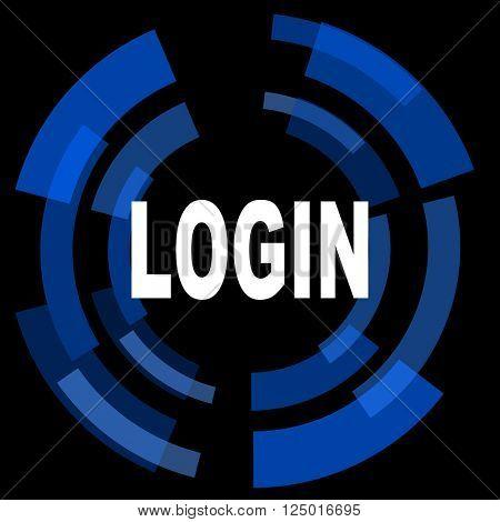 login black background simple web icon