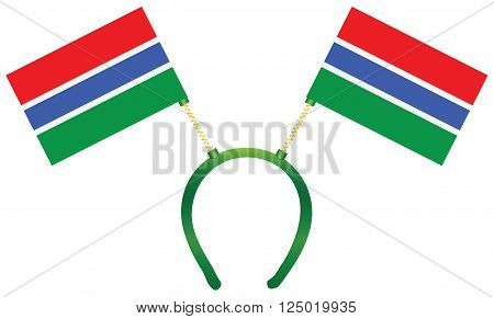 Headdress with a flag of Gambia for holiday.
