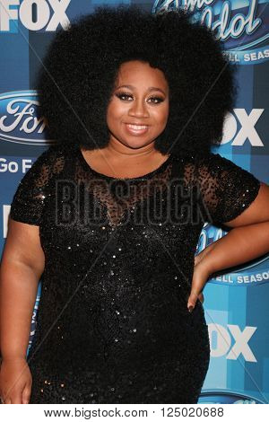 LOS ANGELES - APR 7:  La'Porsha Renae at the American Idol Finale Press Room at the Dolby Theater on April 7, 2016 in Los Angeles, CA
