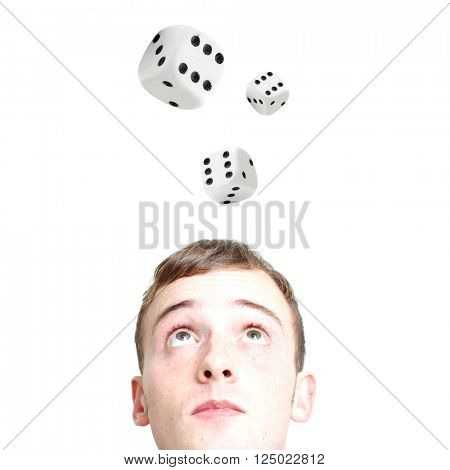 A man gambling