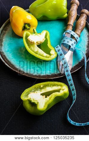 Diet Concept With Fresh Pepper