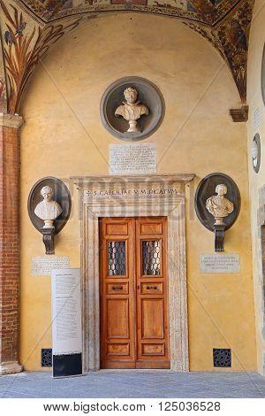 SIENA, ITALY - MARCH 12, 2016: the Palazzo Chigi-Saracini - Siena