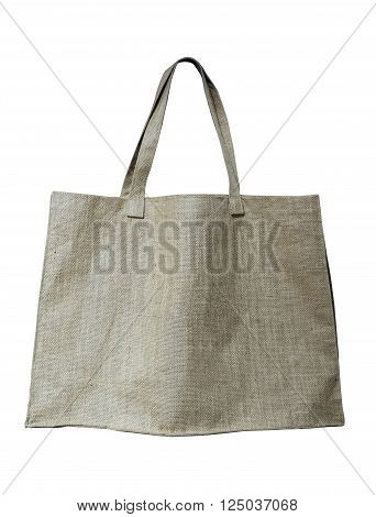 Eco shopping Bag Mock up Organic Natural Fabric isolated