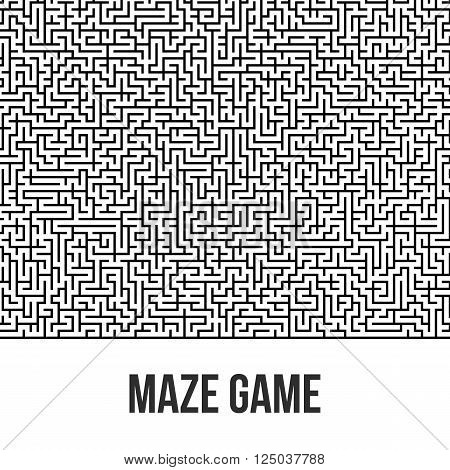 Labyrinth Background. Maze Game Concept. Transportation Logistics Abstract Background Concept. Business Path Concept. Vector Illustration.