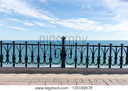 View of Mediterranean Sea from the balcony of Europe at Tarragona Spain