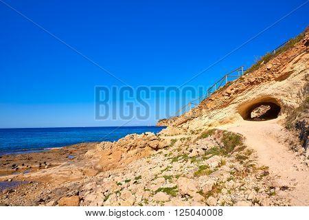 Javea Xabia Cala Blanca beach in Alicante at Mediterranean Spain