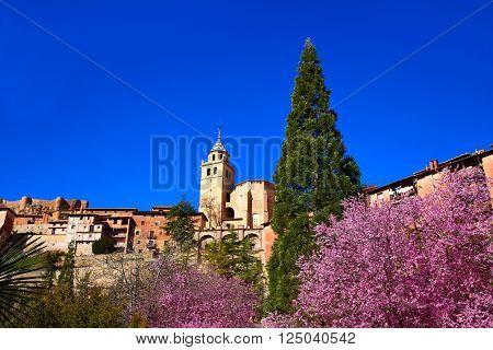 Albarracin medieval town in spring at Teruel Spain