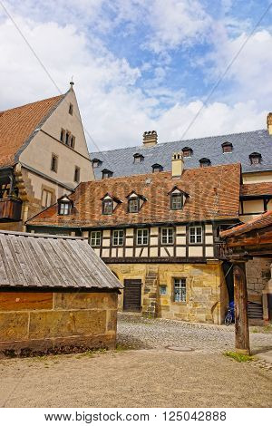 Bamberg, Germany - May 9, 2013: Old palace in the city center of Bamberg in Germany. It is also called Alte Hofhaltung.