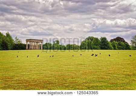 Temple Of Concord And Rooks In Park Of Audley End