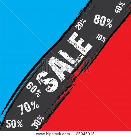 creative retial sale with different percentage discount banner design vector