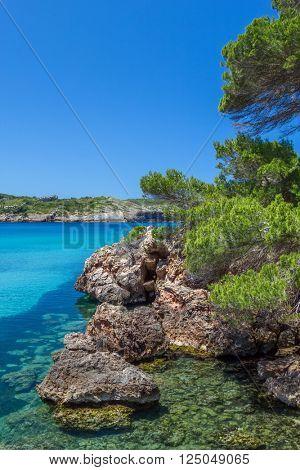 Platja des bot nature view, Menorca, Spain.