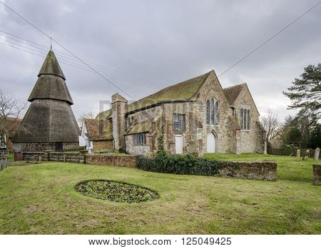 St Augustines Church and bell tower, Brookland, Romney Marsh, Kent UK