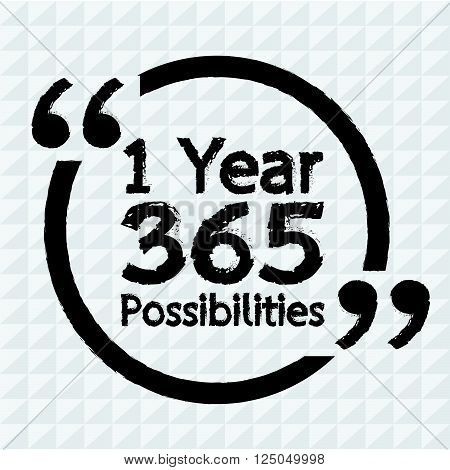 1 Year 365 Possibilities Lettering Illustration design