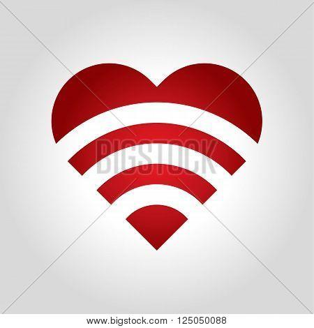 heart sound logo vector illustration design icon shape