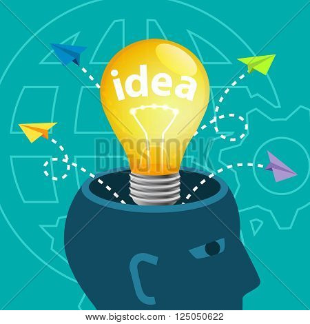 Brainstorm Ideas Innovation Creativity Knowledge Inspiration Vision Concept