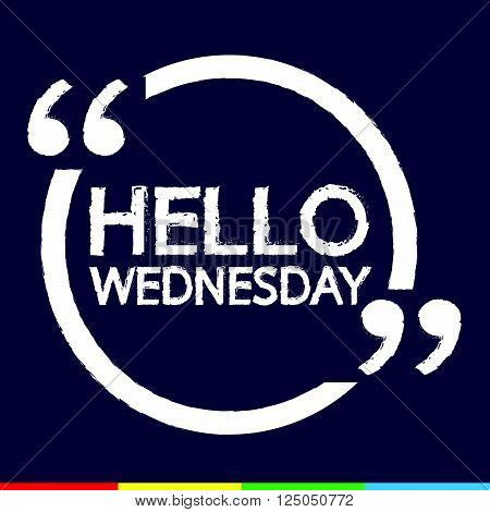 an images of HELLO WEDNESDAY Illustration Design