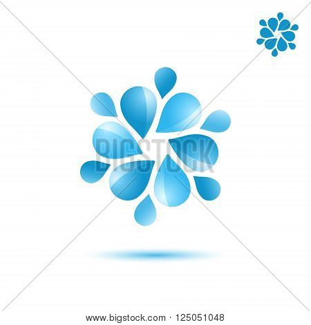 Water circulation sign 3d vector icon eps 10