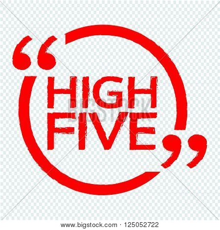 an images of HIGH FIVE Illustration design