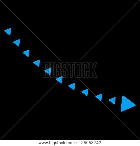 Dotted Decline Trend vector icon. Dotted Decline Trend icon symbol. Dotted Decline Trend icon image. Dotted Decline Trend icon picture. Dotted Decline Trend pictogram.