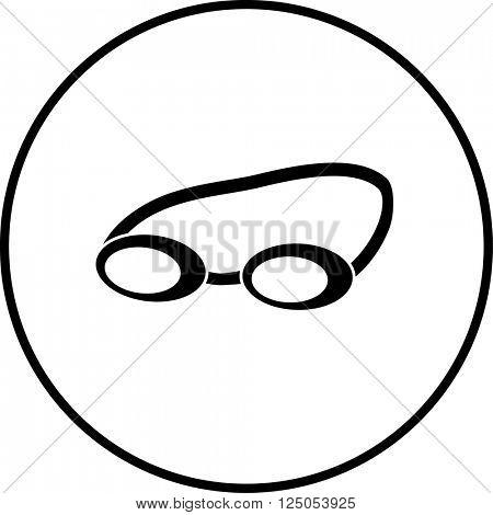 swimming goggles symbol