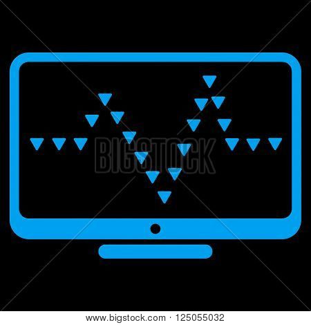 Monitor Dotted Pulse vector icon. Monitor Dotted Pulse pictogram.