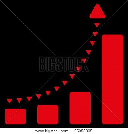 Bar Chart Positive Trend vector icon. Bar Chart Positive Trend icon symbol. Bar Chart Positive Trend pictogram.