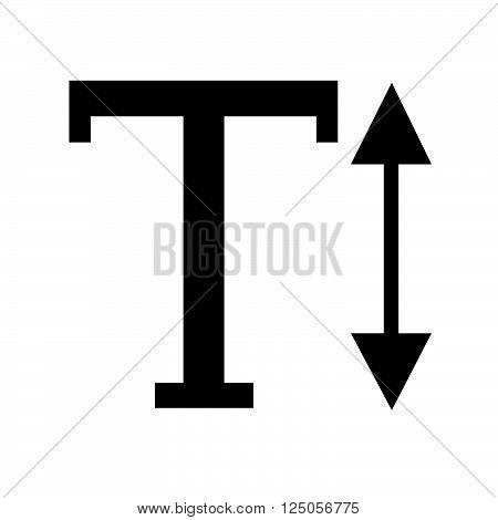 Text Height edit sign icon Illustration design