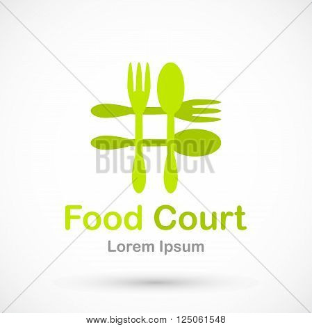 Logo food court vector isolated on background