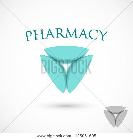 Logo pharmaceutical abstract symbol vector isolated on background